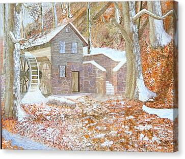 17 Centry Ghrist Mill Canvas Print by Jim Ivey