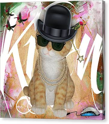 Cat Got The Mouse Canvas Print by Marvin Blaine