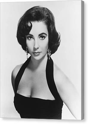 Elizabeth Taylor Canvas Print by Silver Screen