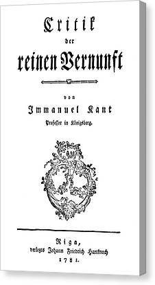 Immanuel Kant (1724-1804) Canvas Print by Granger