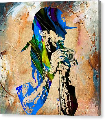 Music Canvas Print - Lil Wayne Collection by Marvin Blaine