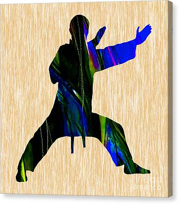 Athletes Canvas Print - Martial Arts Karate by Marvin Blaine