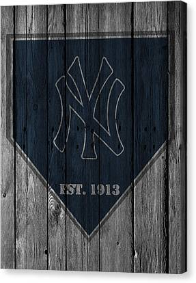 Baseball Fields Canvas Print - New York Yankees by Joe Hamilton
