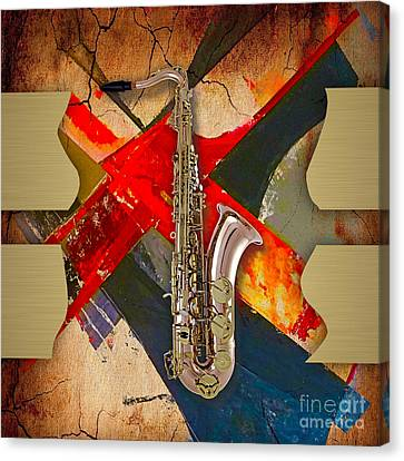 Saxophone Collection Canvas Print by Marvin Blaine