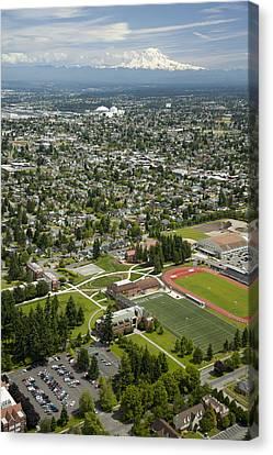 Self-knowledge Canvas Print - University Of Puget Sound U.p.s., Tacoma by Andrew Buchanan/SLP