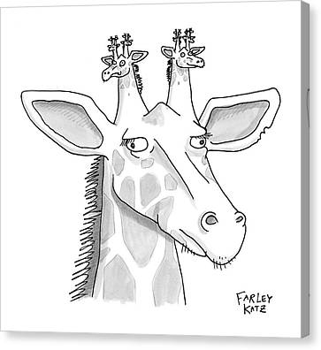 Ears Canvas Print - New Yorker August 11th, 2008 by Farley Katz