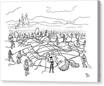 Dominatrix Canvas Print - New Yorker August 10th, 2009 by Paul Noth