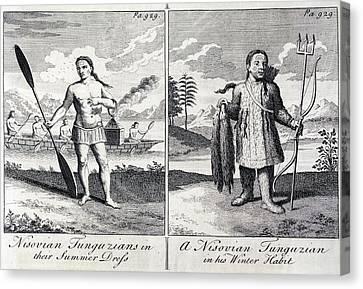 1748 Nisovian Tunguzians Siberian Tribe Canvas Print