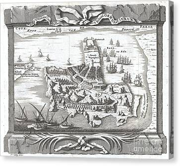 I Am Sailing Canvas Print - 1750 Schley Map Of Ormus Persian Gulf by Paul Fearn