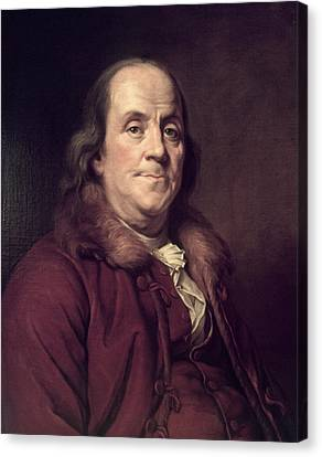 Founding Fathers Canvas Print - 1770s 1778 Benjamin Franklin Portrait by Vintage Images