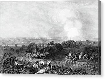 Colonial Man Canvas Print - 1770s Battle Ground At Stillwater 1777 by Vintage Images