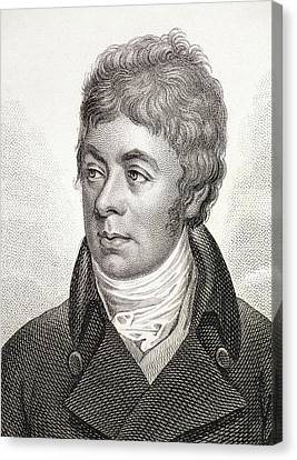 1799 Portrait Of George Shaw Zoologist Canvas Print by Paul D Stewart