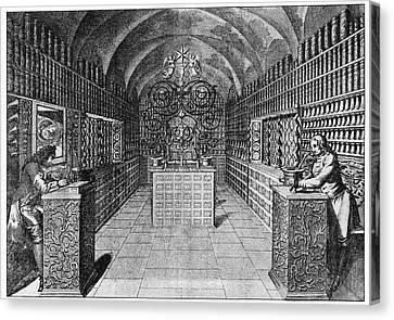 17th Century German Pharmacy Canvas Print