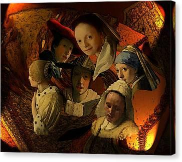 17th Century Maidens Canvas Print