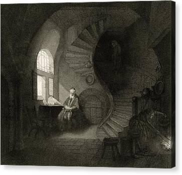 17th Century Philosopher, Artwork Canvas Print