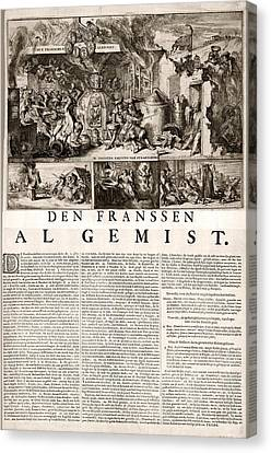 17th Century Political Satire, Artwork Canvas Print