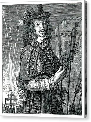Fireworks Canvas Print - 17th Century Pyrotechnist by Collection Abecasis