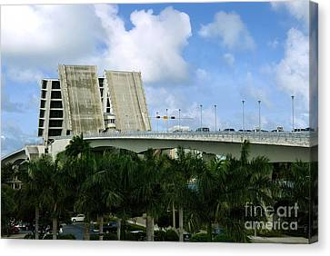17th Street Causeway Drawbridge Fort Lauderdale Florida Canvas Print by Amy Cicconi