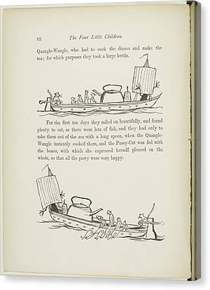 A Book Of Nonsense By Lear Canvas Print by British Library