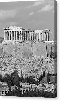 Journey Canvas Print - Acropolis Of Athens by George Atsametakis