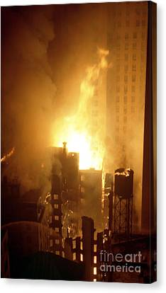 18 Alarm Hotel St George Fire Canvas Print by Steven Spak