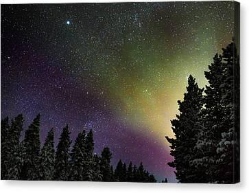 Aurora Borealis Or Northern Lights Canvas Print