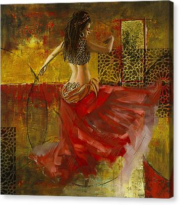 Abstract Belly Dancer 6 Canvas Print by Corporate Art Task Force