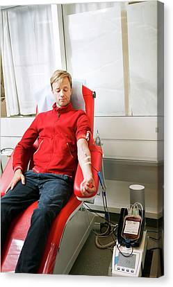 Donates Canvas Print - Blood Donation Clinic by Thomas Fredberg