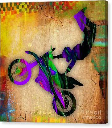 Dirt Bike Canvas Print by Marvin Blaine