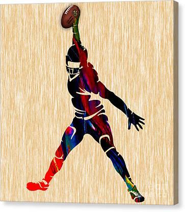 Football Canvas Print by Marvin Blaine