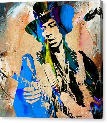 Jimi Hendrix Canvas Print by Marvin Blaine