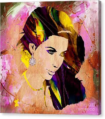 Kim Kardashian Collection Canvas Print by Marvin Blaine