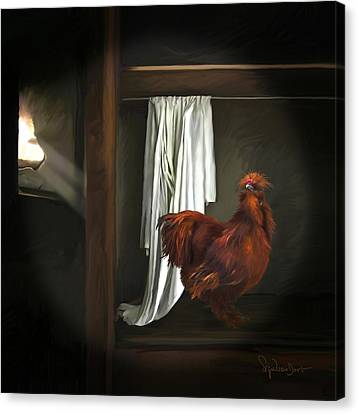 18. Red Rooster Canvas Print