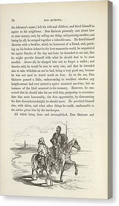 Don Quixote Canvas Print - The History Of Don Quixote by British Library