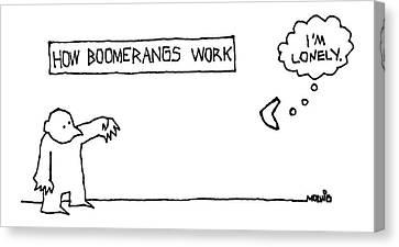 How Boomerangs Work Canvas Print by Ariel Molvig