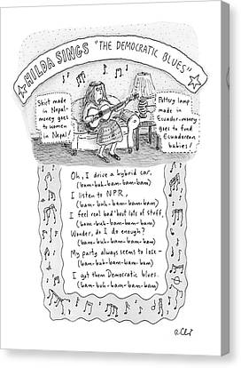 The Democrat Blues Canvas Print by Roz Chast