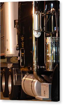 Canvas Print featuring the photograph 18 Wheeler 02 by Ramona Whiteaker