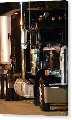 Canvas Print featuring the photograph 18 Wheeler by Ramona Whiteaker