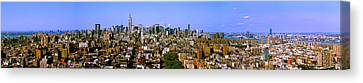 180 Degree View Of A City, New York Canvas Print by Panoramic Images