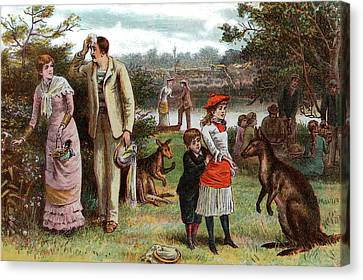 1880s Canvas Print - 1800s 1880s 1881 Summer Picnic Scene by Vintage Images