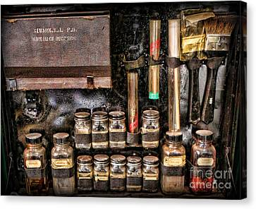 Police Officer Canvas Print - 1800's Fingerprint Kit II by Lee Dos Santos
