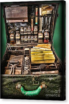Police Officer Canvas Print - 1800's Fingerprint Kit by Lee Dos Santos