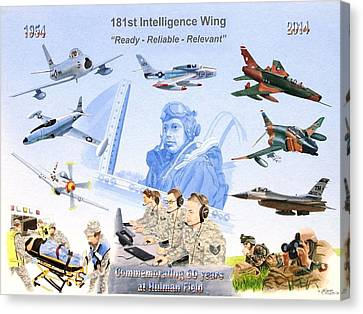 181st Intelligence Wing Canvas Print by C Robert Follett
