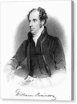 1840 William Swainson Naturalist Portrait Canvas Print by Paul D Stewart