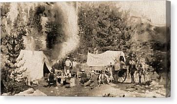Wagon Canvas Print - 1860 Pikes Peak Prospectors by Dan Sproul