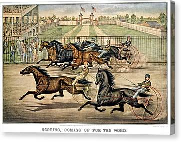 Scoring Canvas Print - 1860s Scoring - Coming Up For The Word by Vintage Images