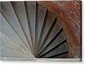 1861 Fort Point Tower Stairs San Francisco Bay Canvas Print by Bill Owen
