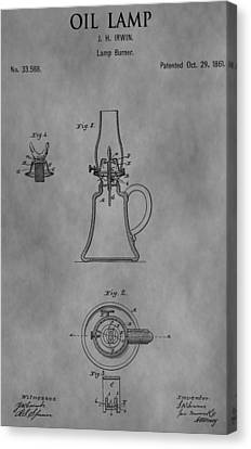 1861 Oil Lamp Patent Canvas Print by Dan Sproul