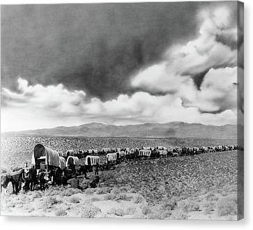 1880s Canvas Print - 1870s 1880s Montage Of Covered Wagons by Vintage Images