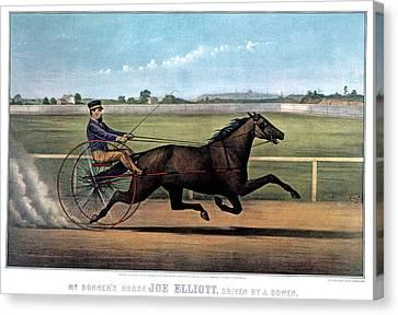 Balance In Life Canvas Print - 1870s Mr. Bonners Horse Joe Elliot by Vintage Images